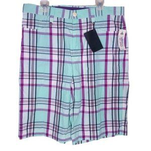 NWT Enyce Gunwhales Shorts Sz 36 Mint & Purple